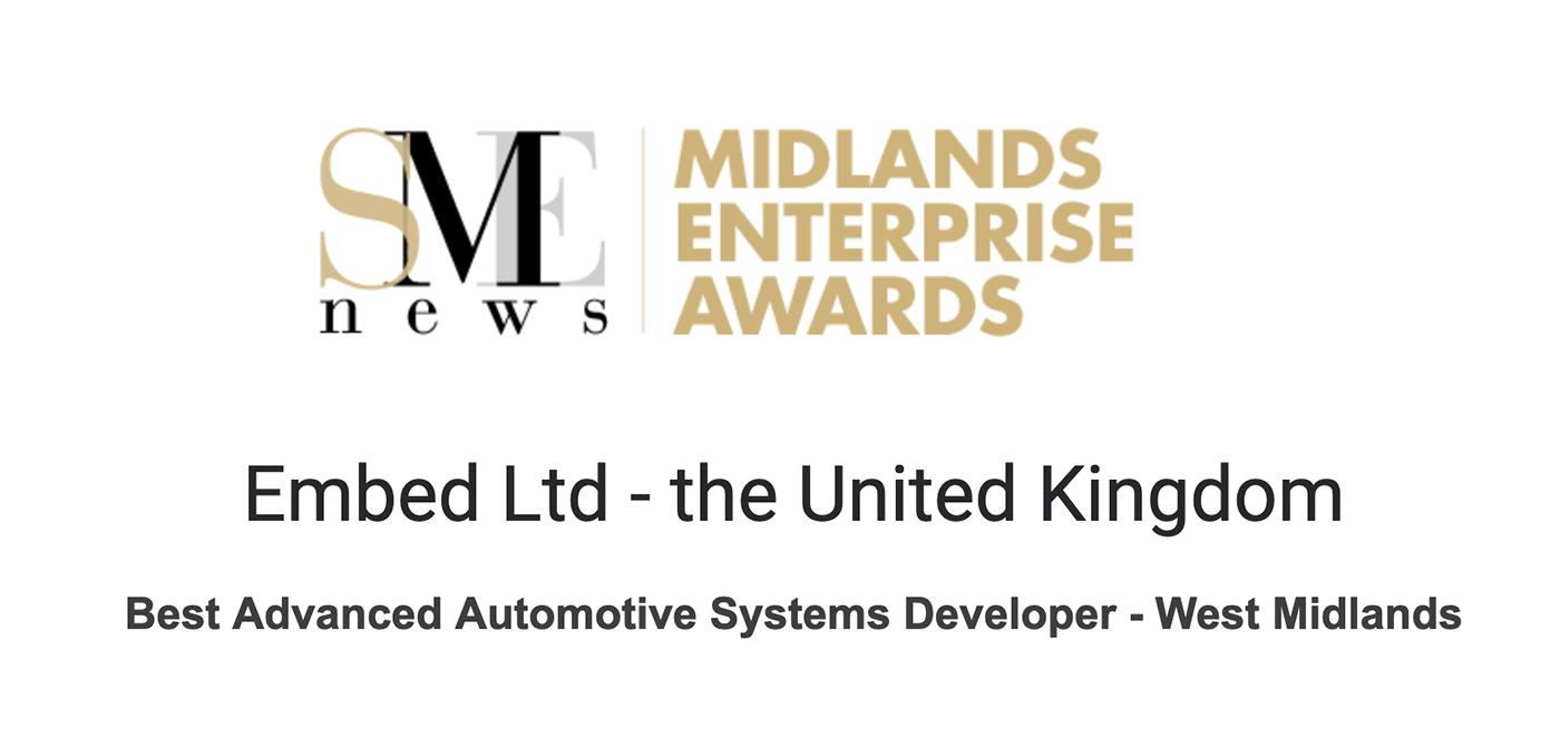 Best Advanced Automotive Systems Developer – West Midlands